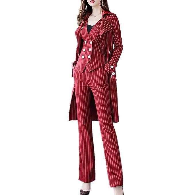 Amazon.com: Juego de traje de mujer elegante, 3 piezas ...