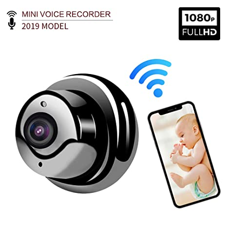 Spy Security Camera - Tescat HD 1080P Home Small WiFi Camera Super Night Vision Surveillance Camera Motion Detection Alarm Remote Monitoring-Two Way ...