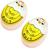 Egg Timer Sensitive Hard & Soft Boiled Color Changing Indicator Tells When Eggs Are Ready (Yellow 2pcs)