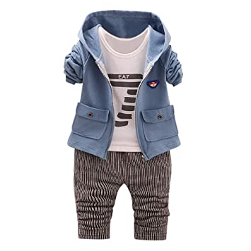 a90fbec8e Boy Clothing Outfit 3PCS Newborn Baby Girls Boys Clothes Set Cool ...