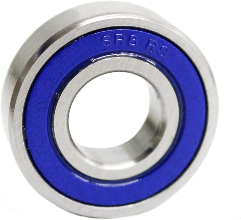 Roulement /à billes en acier inoxydable SS R8/2RS//SR8/2RS//SR8RS Qualit/é industrielle avec boules de pr/écision 1,27 cm G10/SR8/R8SS 12,7/x 28,57/x 8/mm