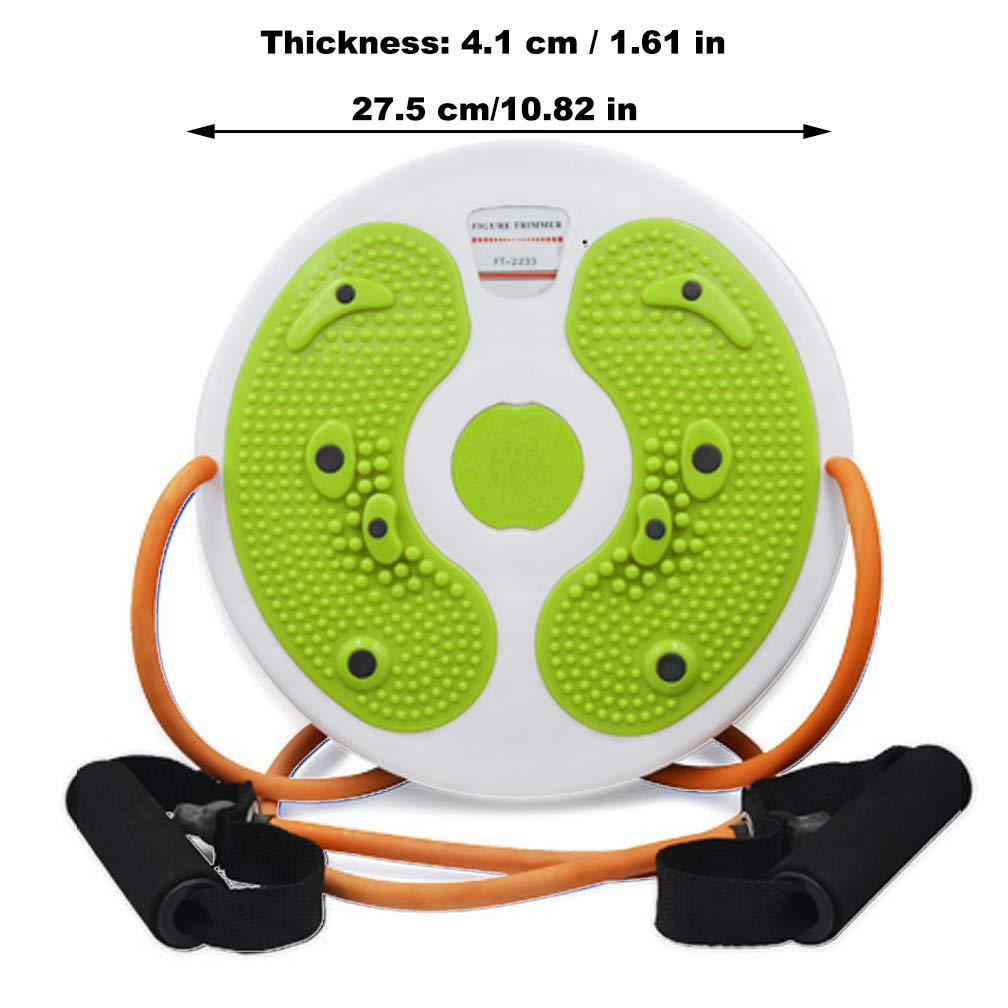 CAJOLG Taille Wriggling Platte Twister Platte Twist Board Verdrehen Disc Abnehmen Bein Twist Board Fitnessger/ät Bauch,Fitne/ßscheibe Trimmscheibe f/ür /Übungen f/ür H/üften und Taille Fitness,Green