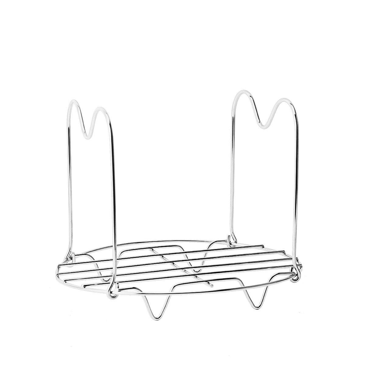 2 Pack Steamer Rack for Instant Pot 6 Qt 8 Qt 6 Quart 8 Quart Pressure Cooker,Stainless Steel Canning Rack Steam Rack Stand Steamer Rack Trivet with Handles for Cooking