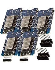 AZDelivery 5 x D1 Mini NodeMcu met ESP8266-12F WLAN-Module CH340G Lua compatibel met Arduino Inclusief E-Book!