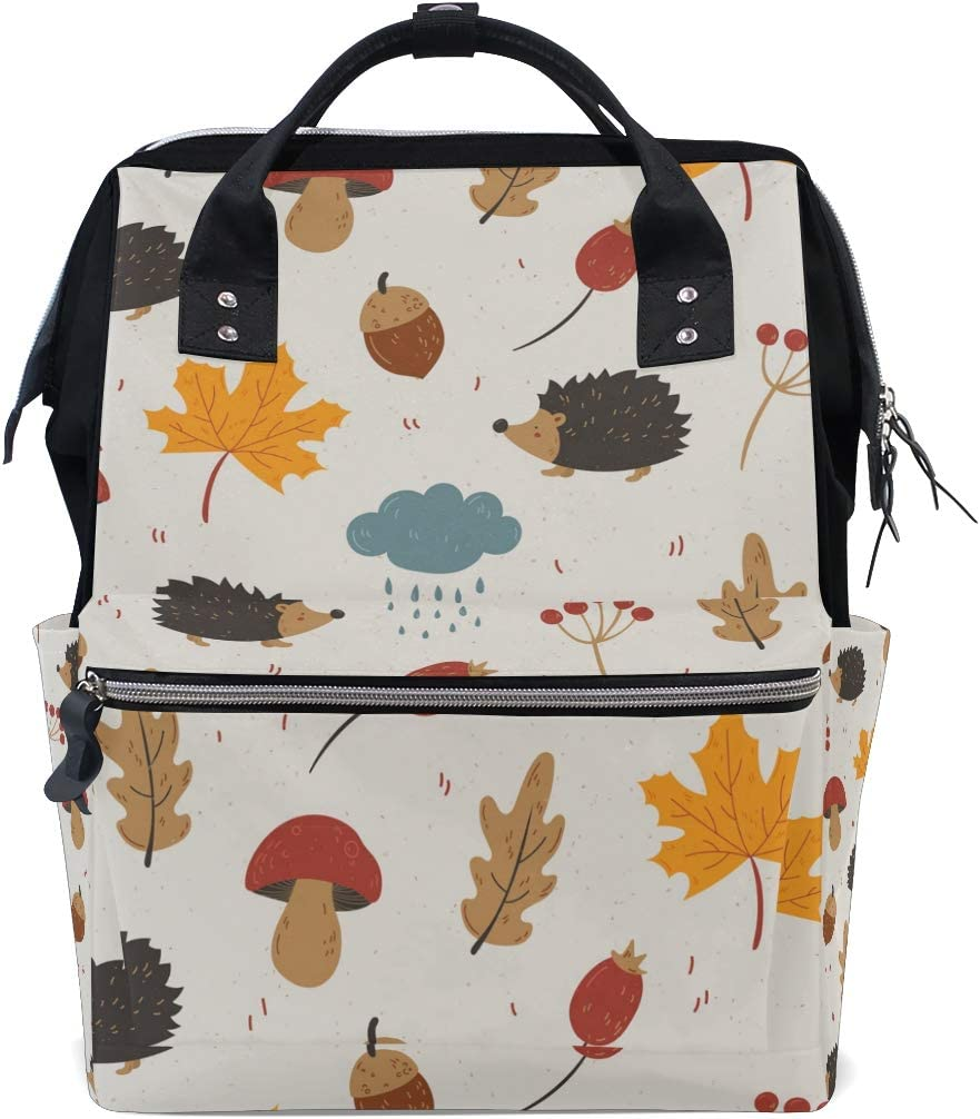 Drawstring Backpack Mushrooms Hedgehogs Snail Rucksack