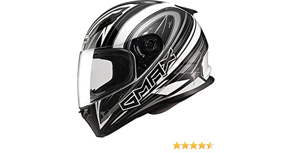 3ea22bc4 Amazon.com: Gmax FF49 Warp Full Face Street Helmet (Flat Black/Silver,  Large): Automotive