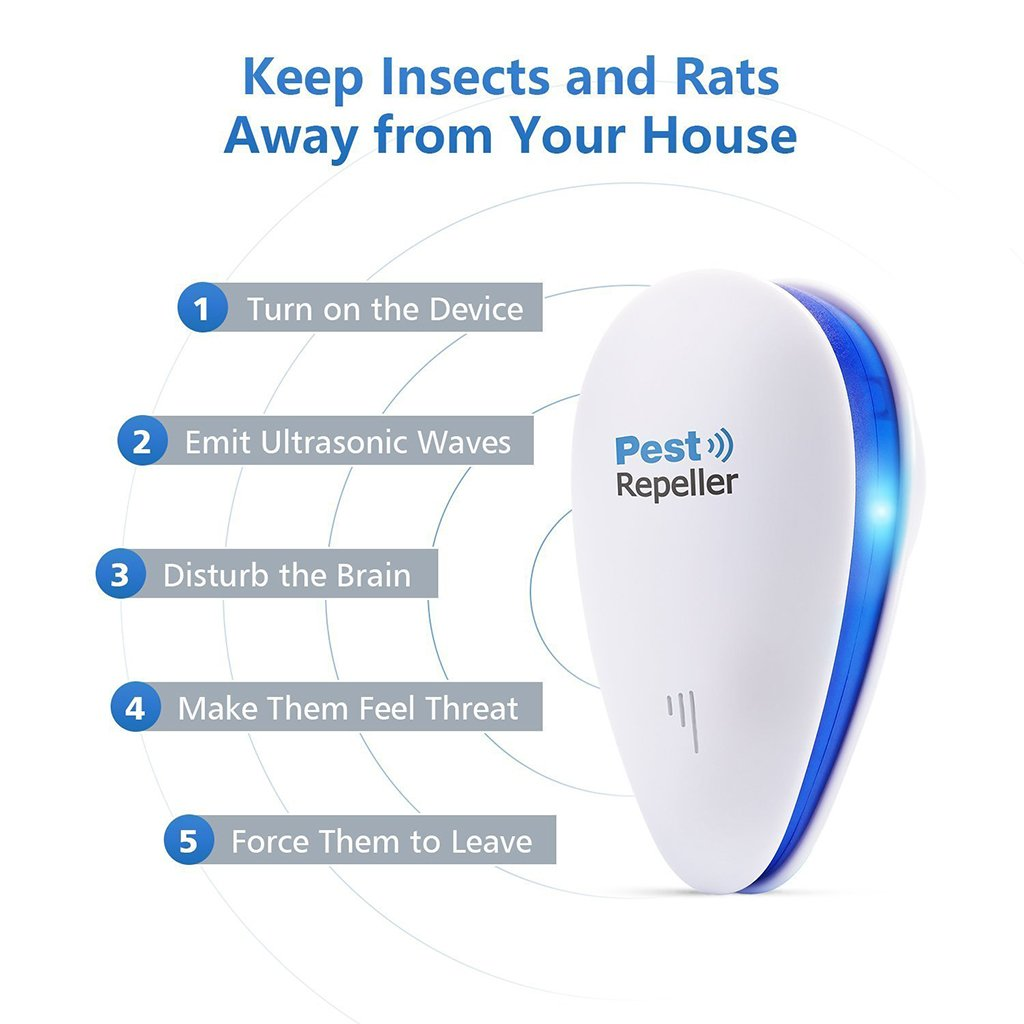 HOTSO Repelente Ultras/ónico Mosquitos Electromagn/éticos Biodegradable uso en Dormitorio Expulsa Insectos Voladores sin Veneno bien con Mascotas Gatos Forma Gota