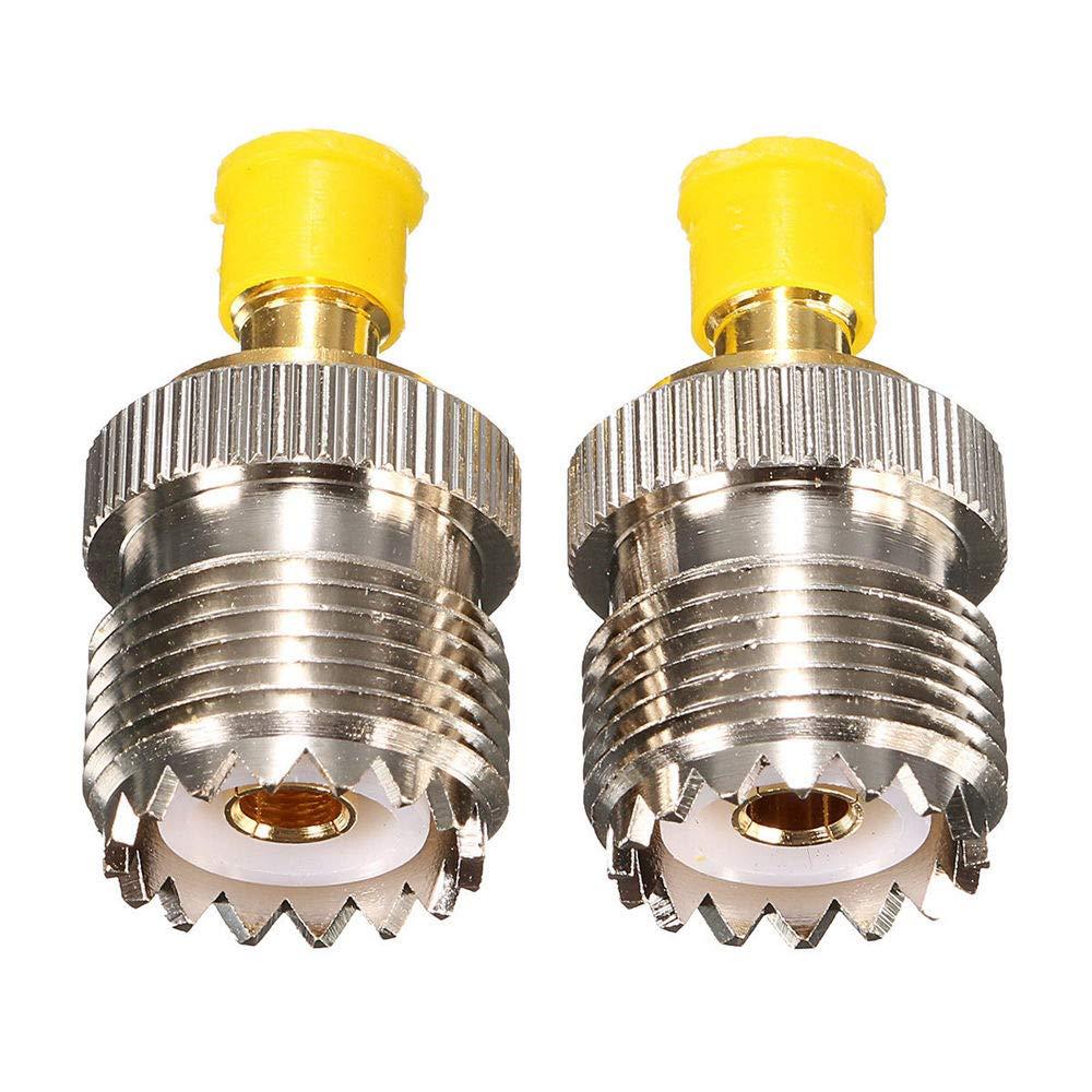 FidgetFidget 2X Antenna Adaptor S021A SMA-F to UHF-F SO239 for BAOFENG UV-5R PX-777 PX-888 BT
