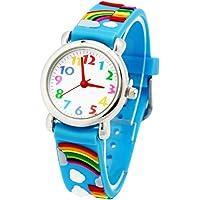 Reloj para Niños de Vinmori, Reloj de Cuarzo Esfera Fluorescente y Velcro de Nylon Impermeable al Aire Libre. Regalo…