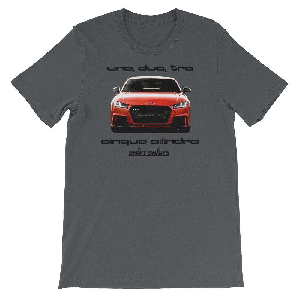 Quattro Cinque - Audi TTRS Quattro Inspired Unisex T-Shirt at Amazon Mens Clothing store: