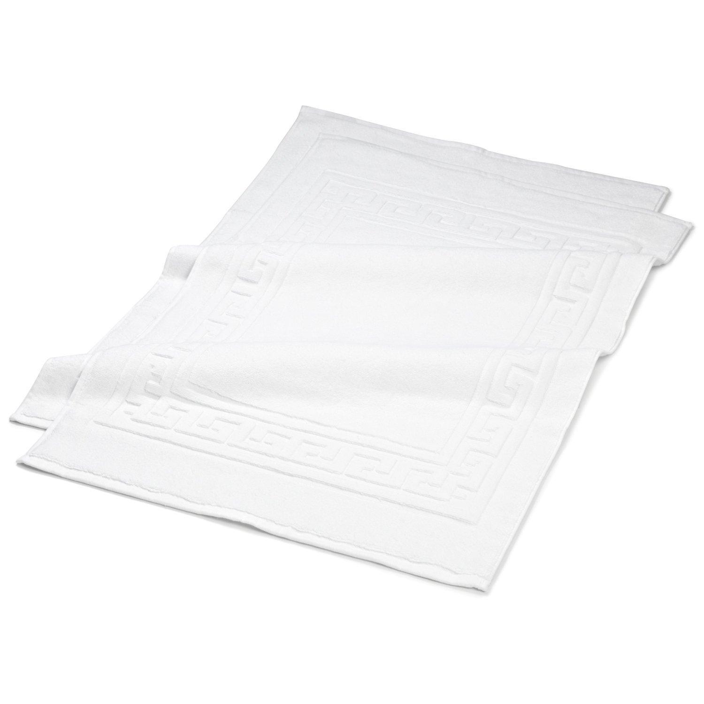 Superior 100% Premium Long-Staple Combed Cotton 2 Piece Bath Mat Set, White BATH MAT WH