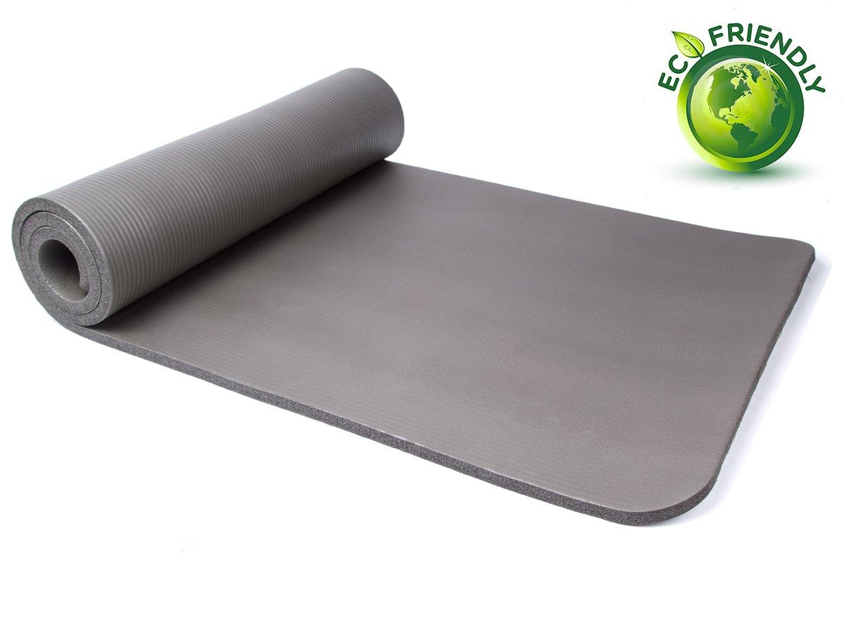 QUBABOBO Esterilla de Yoga 10 mm de Espesor Antideslizante y Durable Esterilla de Gimnasia, Esterilla para Fitness con Correa / Bolsa de Yoga 183cm x 61cm x ...