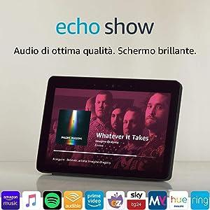 Echo Show (2ª generazione) – Resta sempre in contatto con l'aiuto di Alexa – Nero
