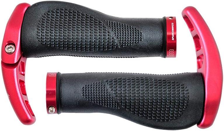 Apretones de Bicicletas Puños de Manillar de Bicicleta, Puños de Manillar Bicicleta MTB Road Mountain Bike Manillar para el Ciclismo Confortable (Color : Red, Size : 138mm): Amazon.es: Hogar
