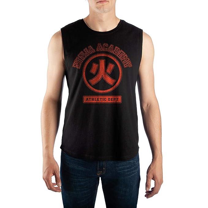 Amazon.com: Naruto Ninja Academy Sleeveless Muscle Shirt ...