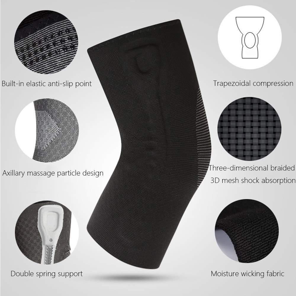 TY BEI Kneepad Sports Knee Pads Meniscus Injury Knee Pads Men's Women Knee Leg Protectors - 5 Sizes Optional @@ (Size : S) by TY BEI (Image #2)