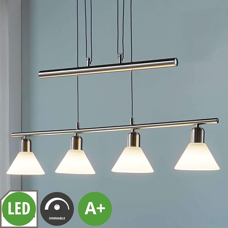 LED-Wandleuchte Elaina Schalter Spot Deckenlampe E14-LED Nickel Matt Lampenwelt
