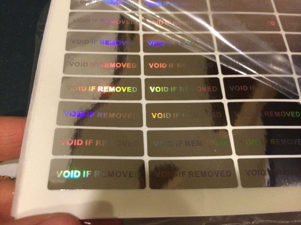 Hologram Warranty Void Security Stickers Tamper Evident (WVIR Labels) (14 Stickers)