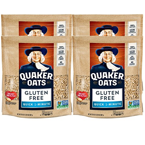 Quaker Gluten Free Oats, Quick Cook, 24oz bag, 4 Bags