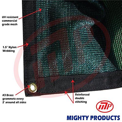 - Xtarps - 12 ft. x 12 ft. -  7 oz Premium 90% Shade Cloth, Shade Sail, Sun Shade (Green Color)