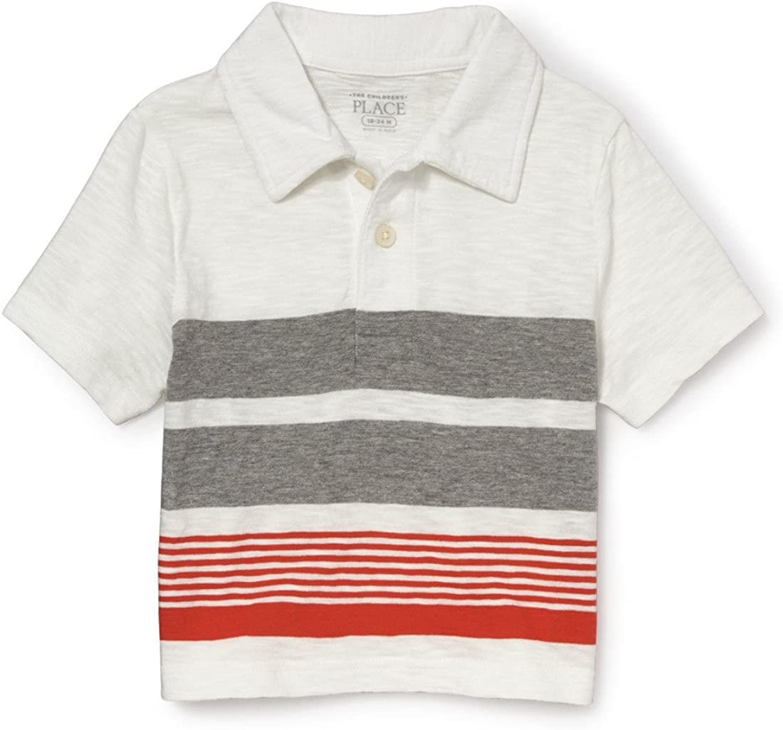 The Childrens Place Boys Baby Striped Polos