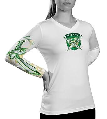 5e8e58434 DA Sports Gear Ireland Soccer Ladies Long Sleeve Top - Irish St Patrick s  Day Shirt