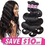 JVH 100% Brazilian Body Wave Virgin Hair 1 Bundle Human Hair Extensions 8inch