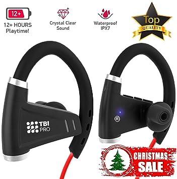 US [NEWEST 2018] Auriculares Bluetooth con batería de 12: Amazon.es: Electrónica