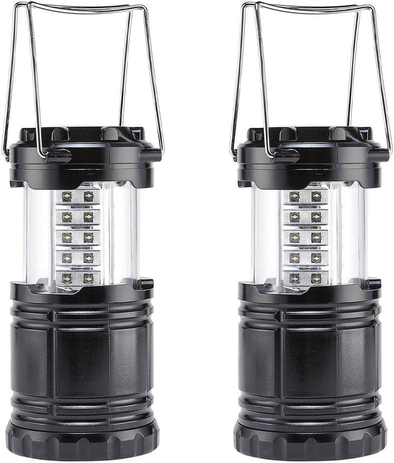 BaiYi Farol de Camping LED,Camping Lantern- Brillante LED Lantern se Puede Plegar Apto para Senderismo,Camping,emergencias,Huracanes Cortes ...
