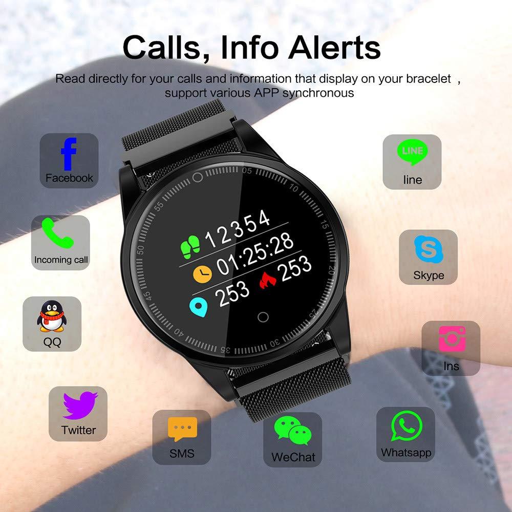 Amazon.com: Bluetooth Smart Watch - Star_wuvi Smart Sports Watch,Smartwatch with Fitness Tracker,Ip67 Waterproof,Heart Rate&Blood Pressure Monitor,Remote ...
