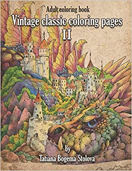 Vintage Classic Coloring Pages II: Relaxing coloring pages ...