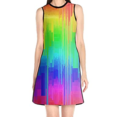 for sale Super discount classic style of 2019 Style Texture Creative Women's Fashion Sleeveless Mini Dress ...