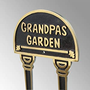 Solid Brass Plate Garden Sign Grandpas Garden Brass Plaques