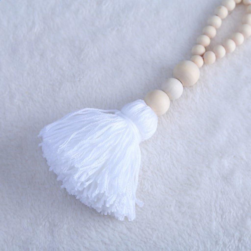 Blanco MagiDeal Borla Lazo Decorativo de Casa Ventana Colgante Cortina Acesorios C/ómodo Elegante