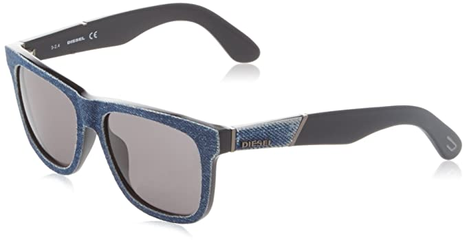 Unisex Adults Wayfarer Eye Sunglasses, Black (Nero), 56 Diesel