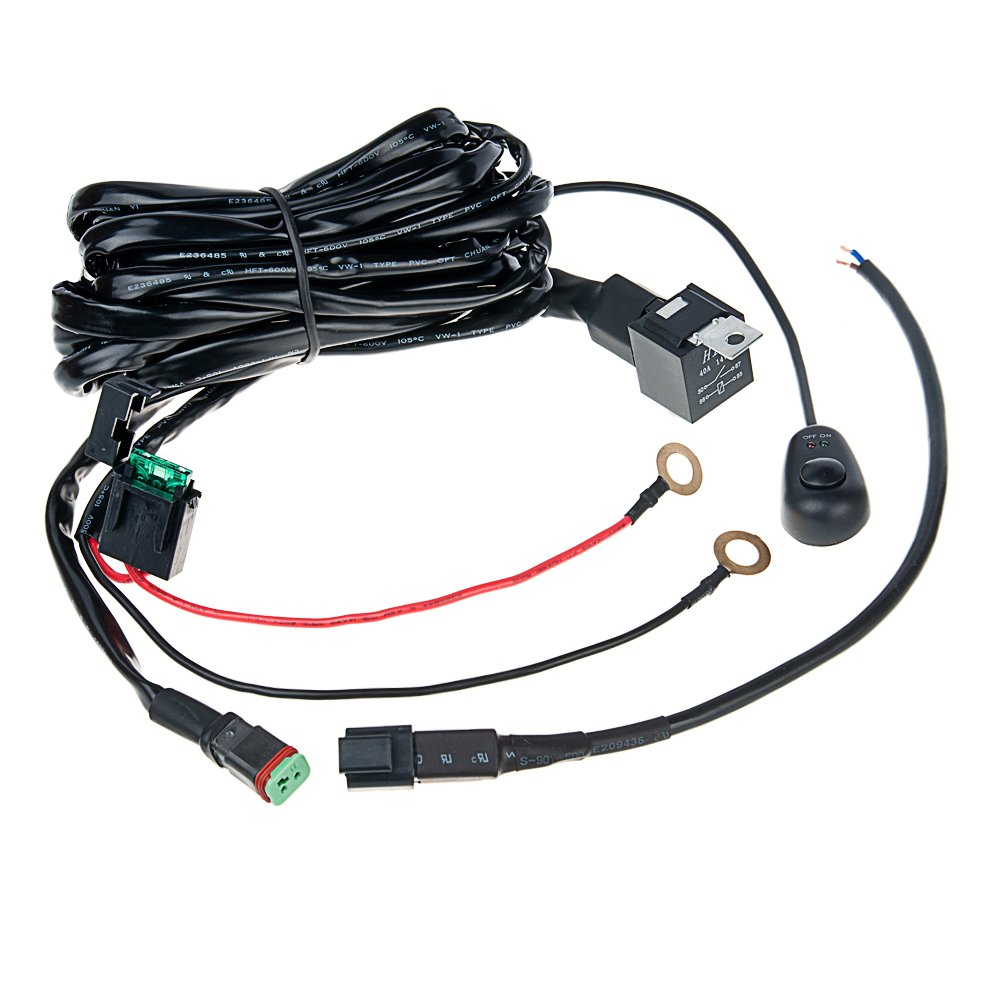 Hero Led Or Wh Dts 10ft Light Wiring Harness With Hid Driving Bar Kit 40a Switch Relay 12v Ebay And Single Channel Dt Connector Only Automotive