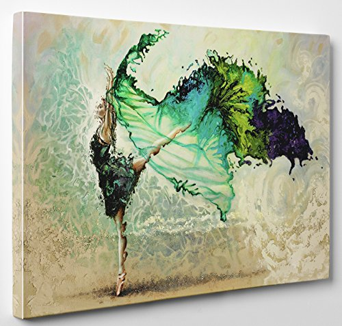 [Niwo Art (TM) - Ballerina, Ballet Dancing Girl. Modern Abstract Oil Painting Reproduction on Canvas, Giclee Wall Art, Gallery Wrapped, Stretched and Framed, Ready to Hang] (Mounted Animal Head Costume)