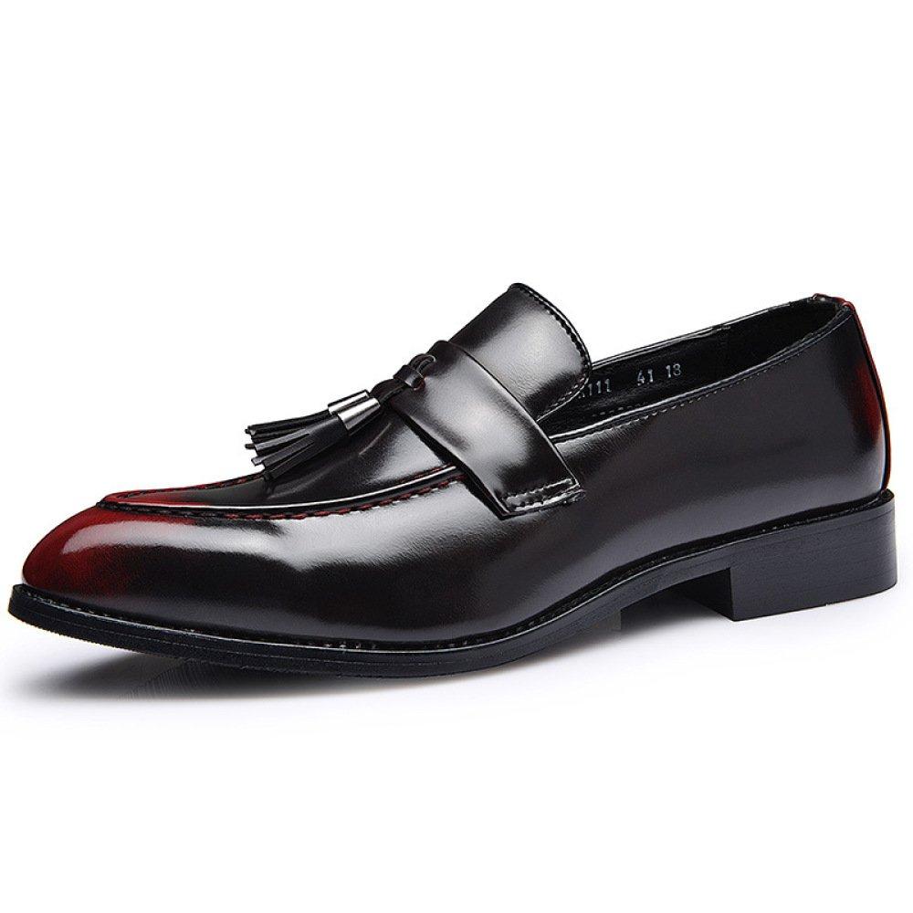 Zapatos con Flecos De Los Hombres Zapatos Casuales Británicos Retro Versión Coreana De Los Zapatos De Marea Antideslizante Comodidad Resistente Al Desgaste 41 EU Red