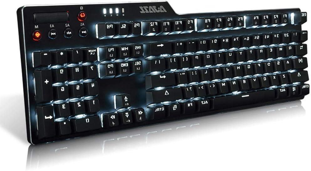 OUKB Teclado mecánico Ordenador portátil con Cable ...