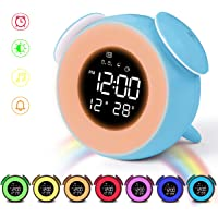 HOMVILLA Reloj Despertador, Despertador Infantil para Alarmas Dobles
