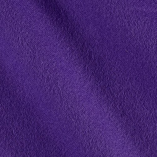 Kaufman Flannel Solid Eggplant Fabric By The Yard (Purple Flannel Fabric)