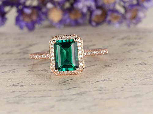Emerald Gemstone ring,Sterling Silver ring,Green Emerald ring,Gift for her,Birthday gift,Gemstone ring,Promise ring,Girls ring,Gemstone May