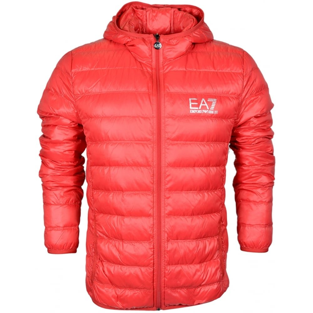 EA7 by Emporio Armani 8NPB02 Ultra-Light Down Racing Red Jacket XXL Red