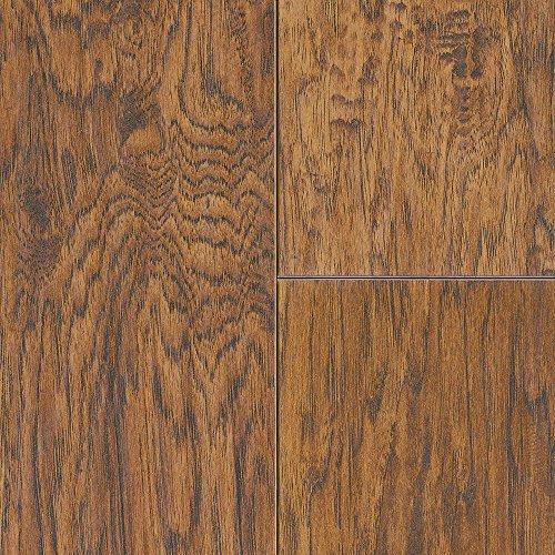 Mannington Laminate Flooring (Mannington 26401 (S) Revolutions Collection Louisville Hickory Laminate Plank Flooring, 8Mm, Butterscotch)
