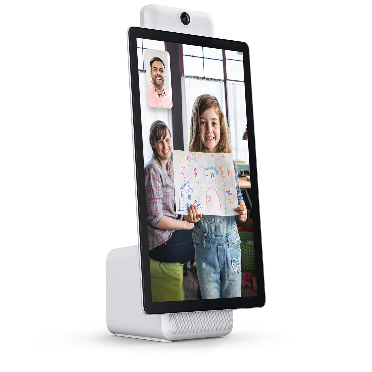 "Portal Plus from Facebook. Smart, Hands-Free Video Calling with Alexa Built-in [15.6"" Display] – White"