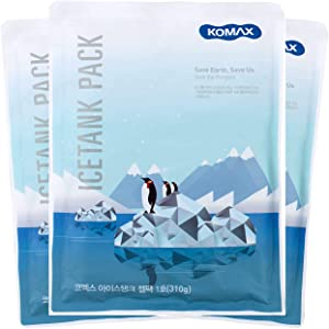 Komax Ice Pack for Lunch Box | 3 Reusable Ice Packs for Kids & Adults | 8-Hours Long Lasting Freezer Packs | Thin Ice Packs for Lunch Boxes, Lunch Bags & Coolers