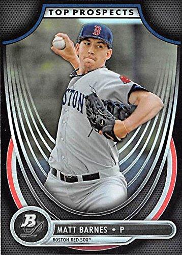 Matt Barnes Baseball Card Boston Red Sox 2013 Topps Bowman