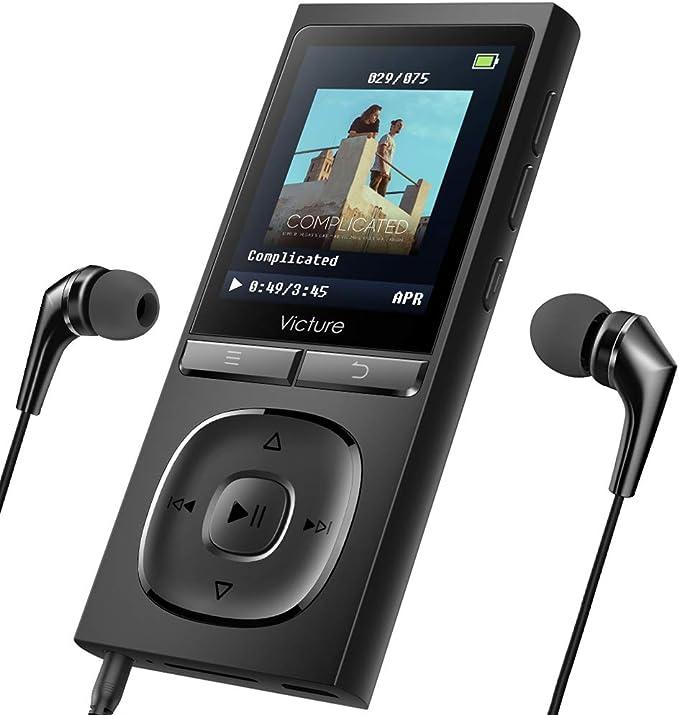 Victure Reproductor de MP3 100 Horas de Tiempo de Espera 8GB ...