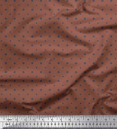 Soimoi Marrón saten de seda Tela diamante tela de camisa tela estampada de costura de tela 42 Pulgadas de ancho: Amazon.es: Hogar