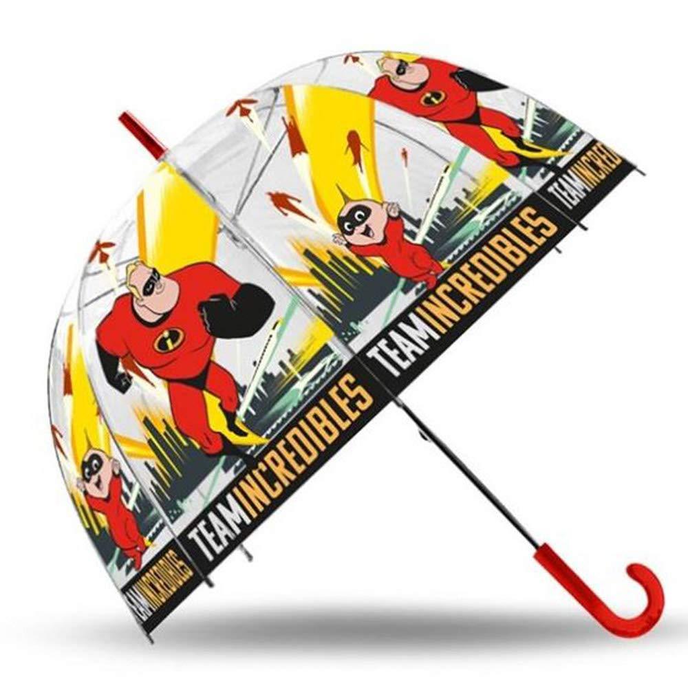 Paraguas transparente de Los Increibles.